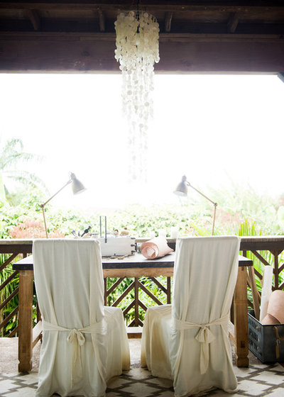 Shabby-Chic Style Terrace by Ashley Camper Photography
