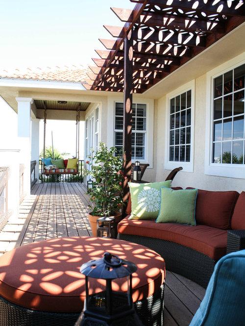 Mediterranean porch design ideas remodels photos houzz for Mediterranean front porch designs