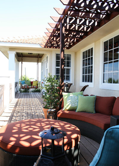 Good Mediterranean Porch by Mina Brinkey