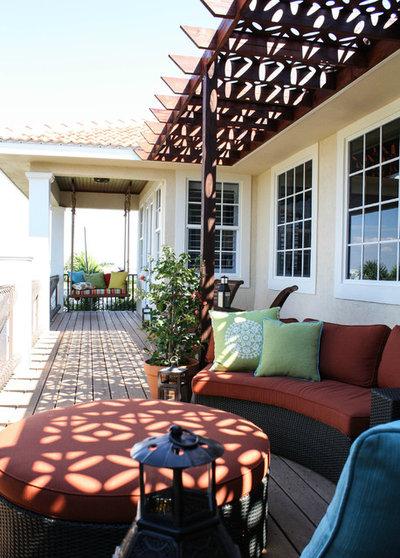 Fresh Mediterranean Porch by Mina Brinkey