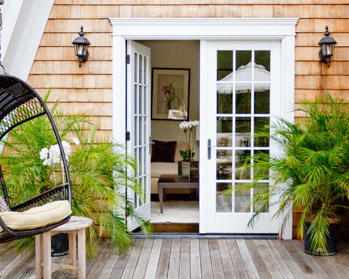 french door to deck houzz