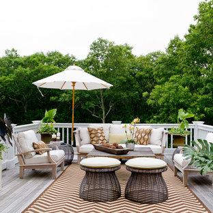 Deck - beach style deck idea in New York