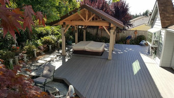 New deck and hot tub cover