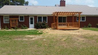 New Deck with Western Red Cedar Pergola & Trellis