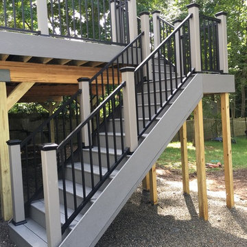 New Providence deck. Select decking, Reveal railings