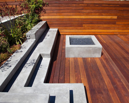 Backyard Deck Design backyard deck designs best 25 backyard deck designs ideas on Example Of A Large Minimalist Backyard Deck Design In San Francisco With A Fire Pit