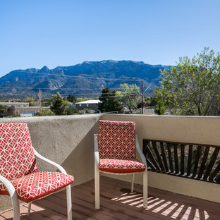 Large southwest rooftop deck photo in Albuquerque with no cover