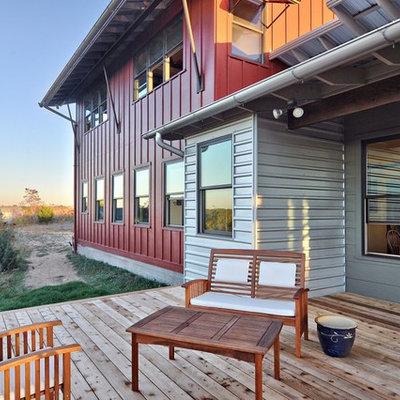 Deck - rustic deck idea in Austin