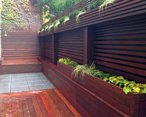 Chelsea nyc terrace fence deck patio privacy ipe for Terrace fence