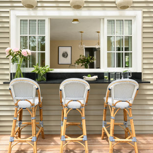 Shabby-chic style deck in Boston.
