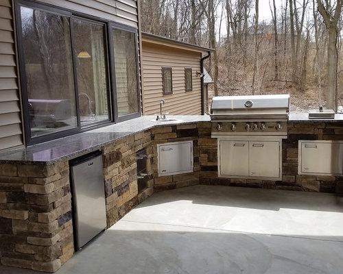 Terrasse mit Outdoor-Küche St. Louis Ideen, Design & Bilder   Houzz