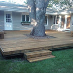 Milledge Terrace Covered Deck Traditional Deck