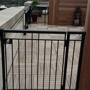 Ejemplo de terraza clásica renovada en azotea