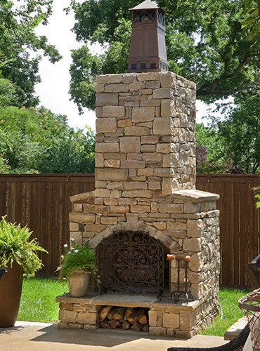 Outdoor fireplace kits for Pre engineered outdoor fireplace