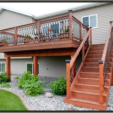 Traditional Deck by JORDAHL CUSTOM HOMES