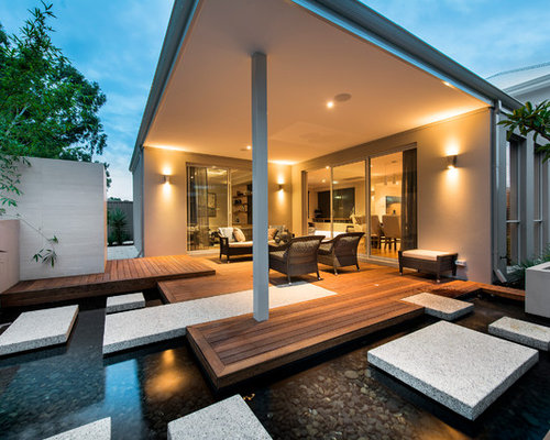 Modern Backyard Design Awesome Modern Backyard  Houzz Design Ideas