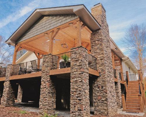 Rustikale Terrasse Raleigh - Ideen Für Die Terrassengestaltung | Houzz Rustikale Terrassengestaltung