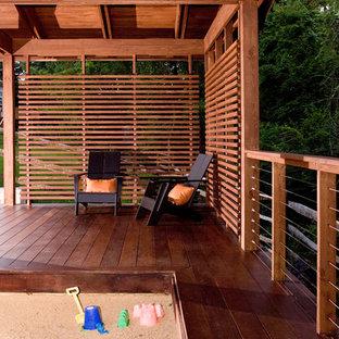 Idées déco pour une terrasse contemporaine.