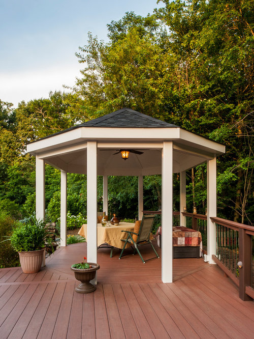 Deck gazebo home design ideas pictures remodel and decor for Decks and gazebos