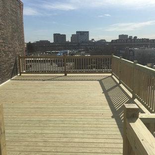Immagine di grandi terrazze e balconi industriali sul tetto con nessuna copertura