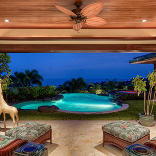 Inspiration for a tropical deck in Hawaii.