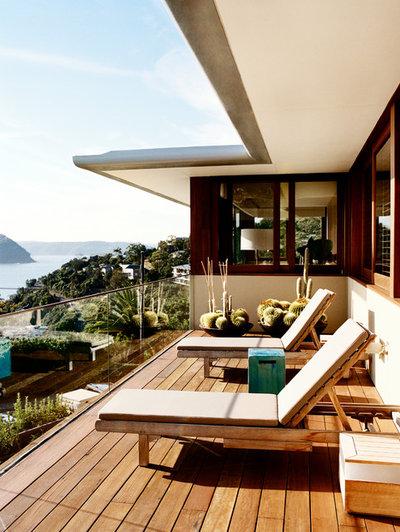 Contemporáneo Terraza y balcón by Sarah Davison Interior Design