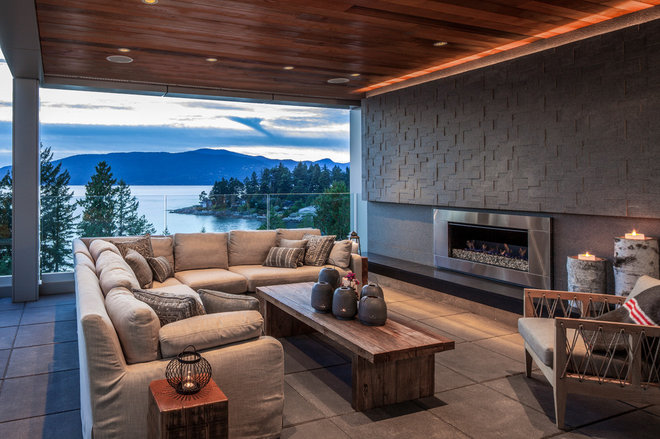 Contemporary Deck by derek lepper photography