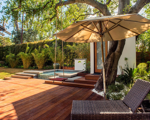 Craftsman deck design ideas remodels photos for Hot tub designs and layouts