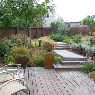Design ideas for a contemporary backyard deck in San Francisco.