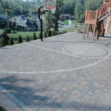Paver basketball court