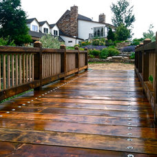 Traditional Deck by Black Timber Builders