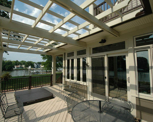 Affordable Waterfront Pergola Home Design Ideas