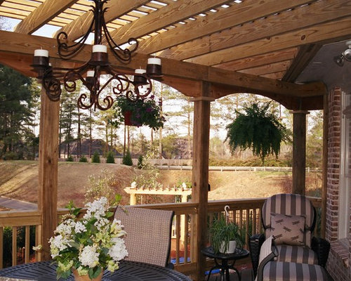Mediterranean atlanta deck design ideas remodels photos for Mediterranean deck designs