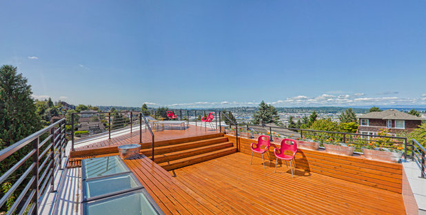 Contemporain Terrasse en Bois by Stephenson Design Collective
