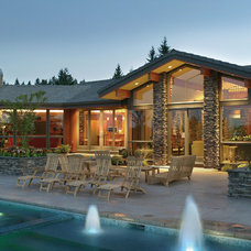 Contemporary Deck by House Plans and More