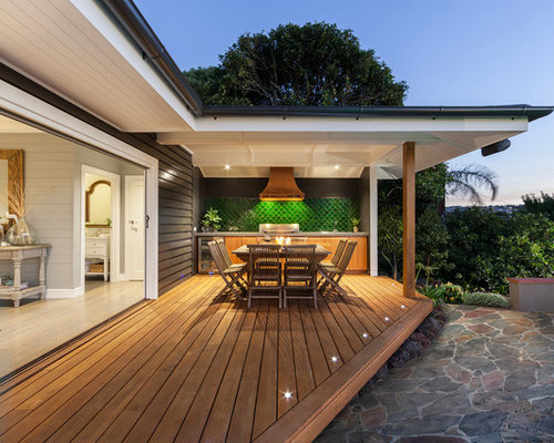 Deck lighting houzz example of a coastal outdoor kitchen deck design in melbourne aloadofball Gallery