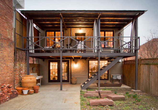 industrial deck by Bennett Frank McCarthy Architects, Inc.