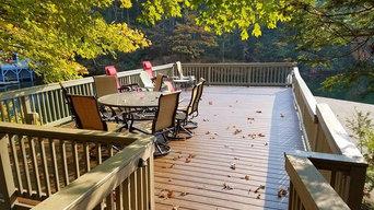 Porch on Lake Lure, NC