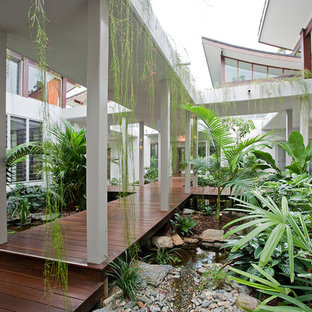 Inspiration for a tropical deck remodel in Cairns