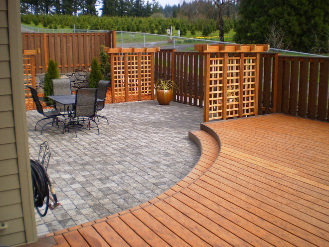Contemporary Deck by Paradise Restored Landscaping & Exterior Design