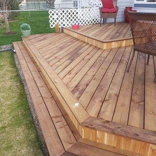 Diseño de terraza tradicional, de tamaño medio, sin cubierta, en patio trasero