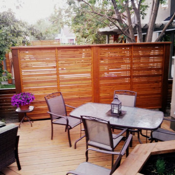 Privacy screen and deck
