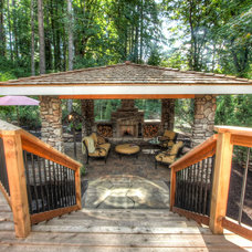 rustic deck by Paradise Restored Landscaping & Exterior Design