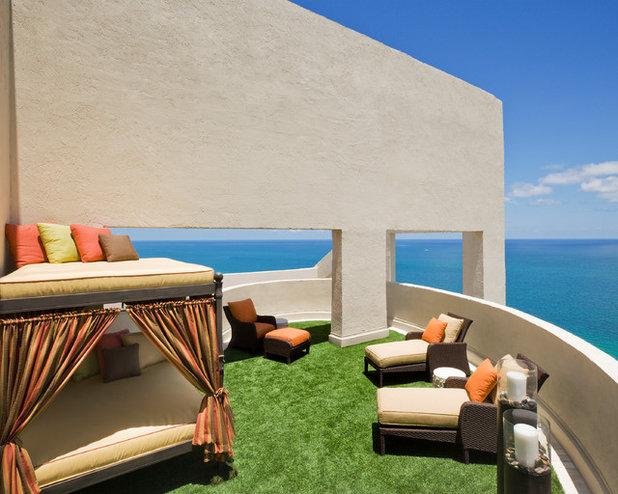 Mediterranean Deck by Susan Lachance Interior Design