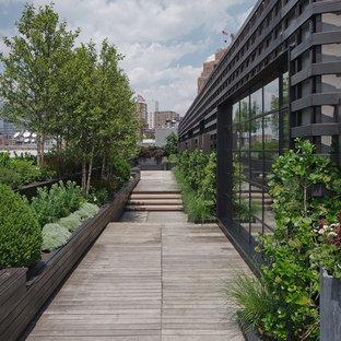 Unbedeckte Moderne Dachterrasse im Dach in New York
