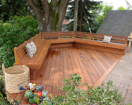 Deck bench ideas pictures remodel and decor
