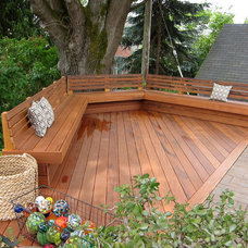 traditional deck by Cedarcraft construction LLC