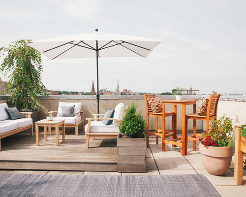 Transitional Rooftop Deck Idea In New York