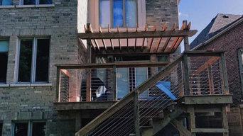 PT Brown Deck with Pergola in Brampton