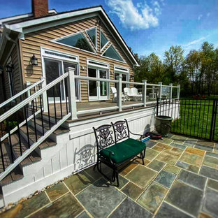 Inspiration for a french country deck remodel in DC Metro